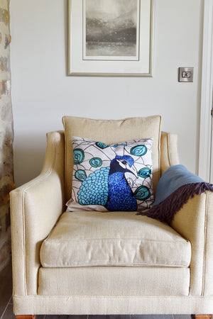 Perfect Peacock-Luxury Designer Cushion