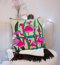 Flamingo, Inspired by Pink Flamingos, Complete Velvet Cushion
