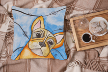 'Frenchie'  French Bulldog, Unique Quirky Complete Velvet Cushion