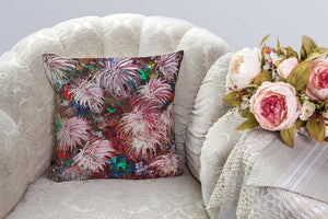 Abstract Dahlia, Beautiful Complete Smooth Velvet Square Cushion