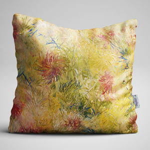 Luxury Velvet Cushion with abstract flower design
