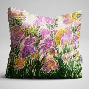 Iris, Taken From Original Oil Painting, Complete Cushion