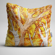 Luxury Velvet Cushion with Autumn colours design