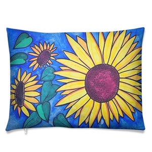 Sunflower Cushion design, the perfect cheerful gift. Give someone some sunshine today. Cushions make the perfect gift, it is like giving a hug to keep forever.