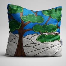 Tree of Life design on luxury velvet cushion