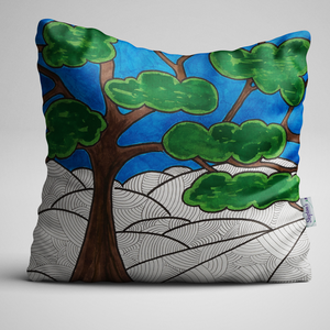 Tree Of Life, From Original Watercolour Painting, Complete Cushion