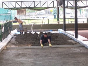 Screed-court-surface