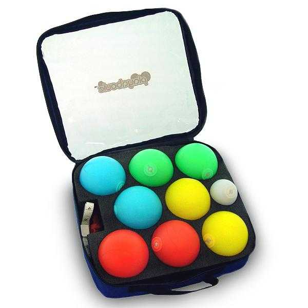 Playaboule 85mm Travel Edition Lighted Bocce Ball Set Patented V4 Plugs - Playaboule