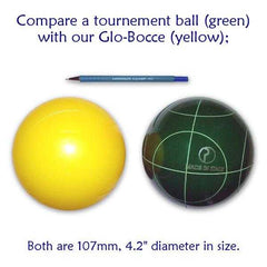 Playaboule 4 Color Lighted Bocce Set DLX Glow (LED) 107mm - Playaboule