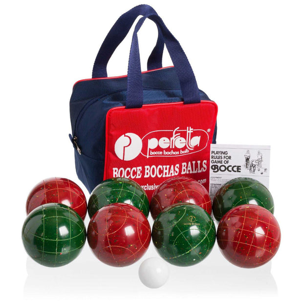 Perfetta Club Pro Bocce Ball Set 107mm Made in Italy Fleck Color - Playaboule