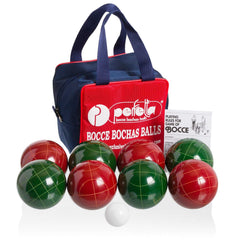 Perfetta Club Pro Solid Color Bocce Ball Set 107mm Made in Italy