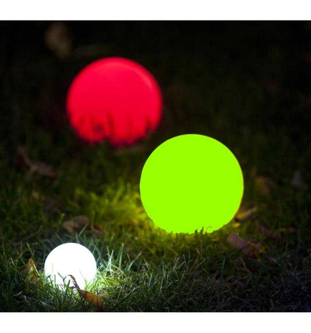 Playaboule Patented 2 Color Lighted Bocce Set Glow (LED) 107mm V4 Plugs - Playaboule
