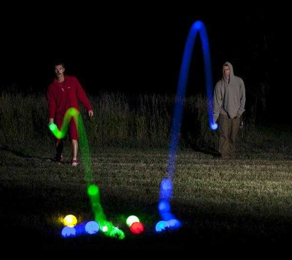 Playaboule Patented 4 Color Lighted Bocce Set DLX Glow (LED) 107mm V4 Plugs | Playaboule