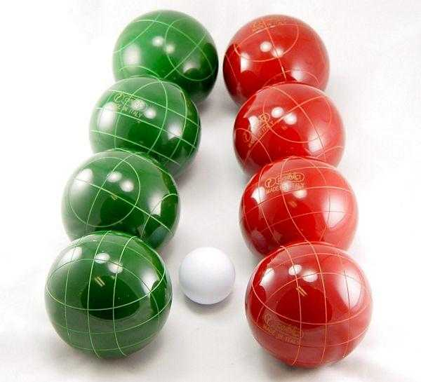 Perfetta Club Pro Bocce Ball Set 107mm Made in Italy Solid Color - Playaboule