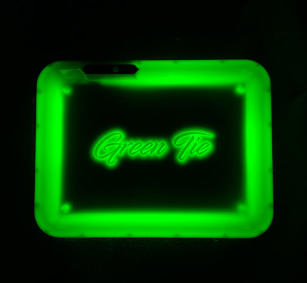 Green Tie Signature Glow Tray