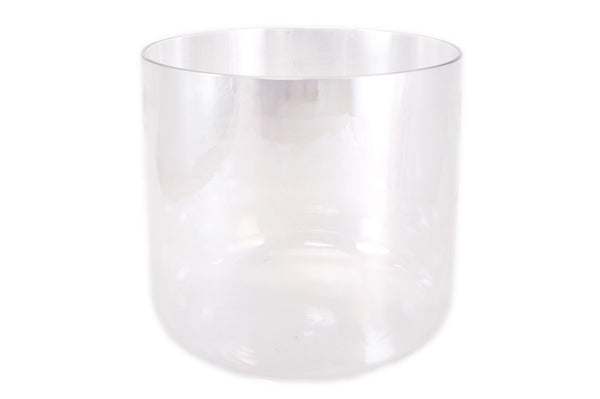 "6"" Clear Quartz E/F/F# Note Crystal Singing Bowl"