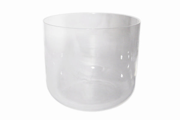 "7"" Perfect Pitch Clear Quartz C Note Crystal Singing Bowl"
