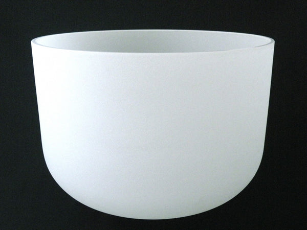 "13"" Frosted Crystal Singing Bowl"