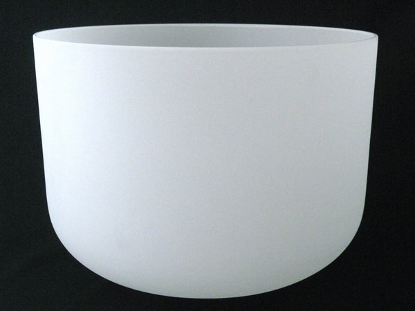 "16"" Frosted Crystal Singing Bowl"