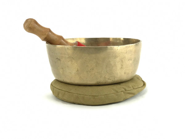 "8.25"" E/A Note Flat Bottom Himalayan Singing Bowl"