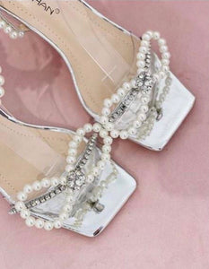 Pearl Mirrored Sandals