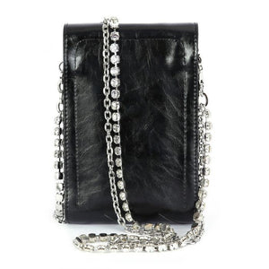 Black diamond strap cross body bag