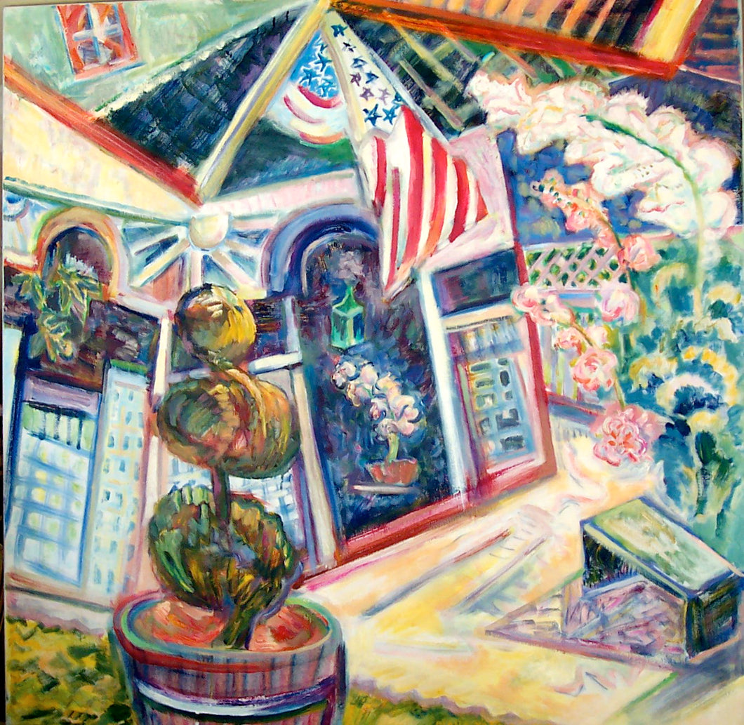 Enter Here, 2007, Diana Young, American b. 1936, 40 x 40 inches, acrylic on canvas