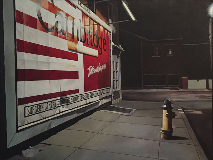 Fifth Street, 1993, Tobin Sprout, American b. 1955, 42 x 32 inches, oil on canvas