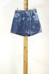 Vintage Denim Skort with custom tie dye rework | 1990s