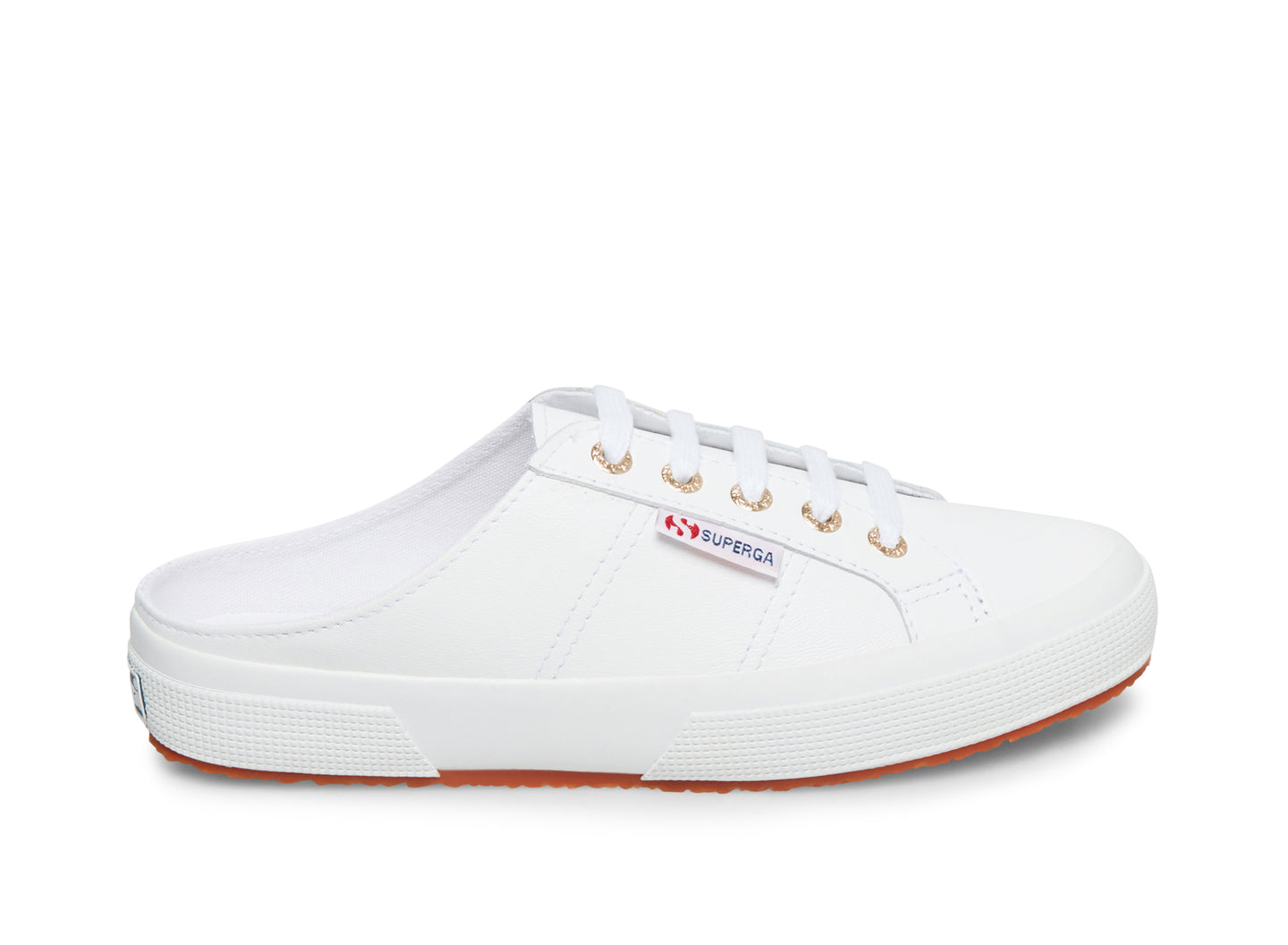 2402 LEANAPPAW WHITE-GOLD LEATHER - Women's