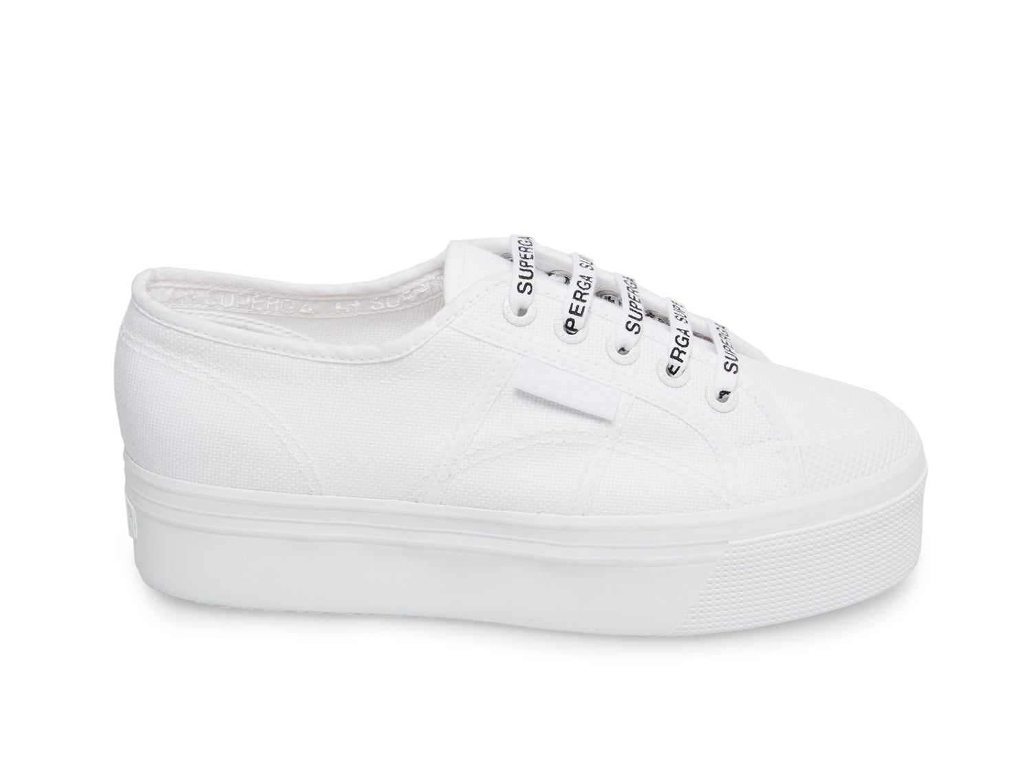 Superga 2423 cotu white fabric side