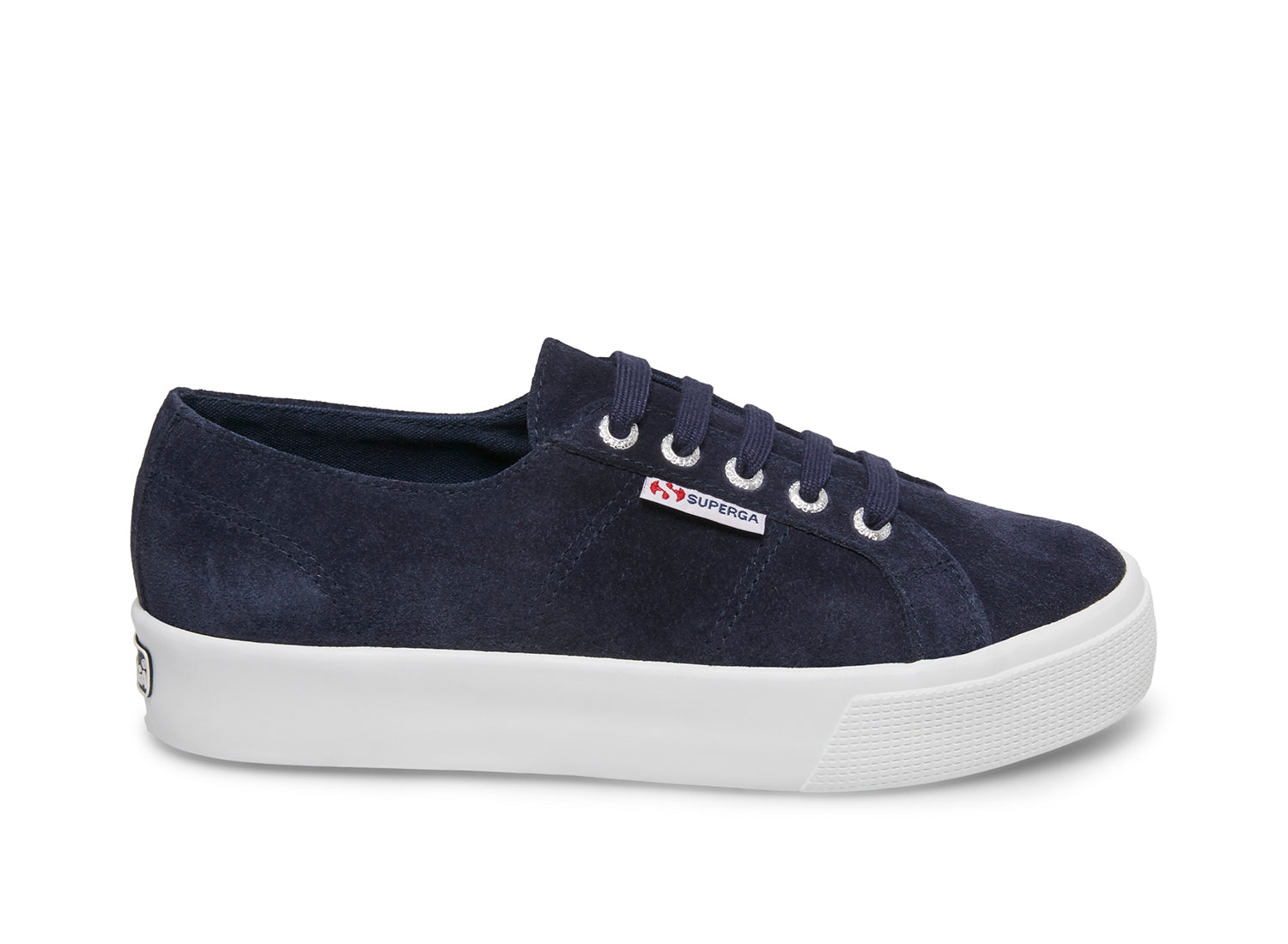 Superga 2730 sueu blue deep sea side