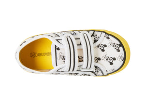 2750 ALLOVERSTRAPCOTJ WHITE-YELLOW