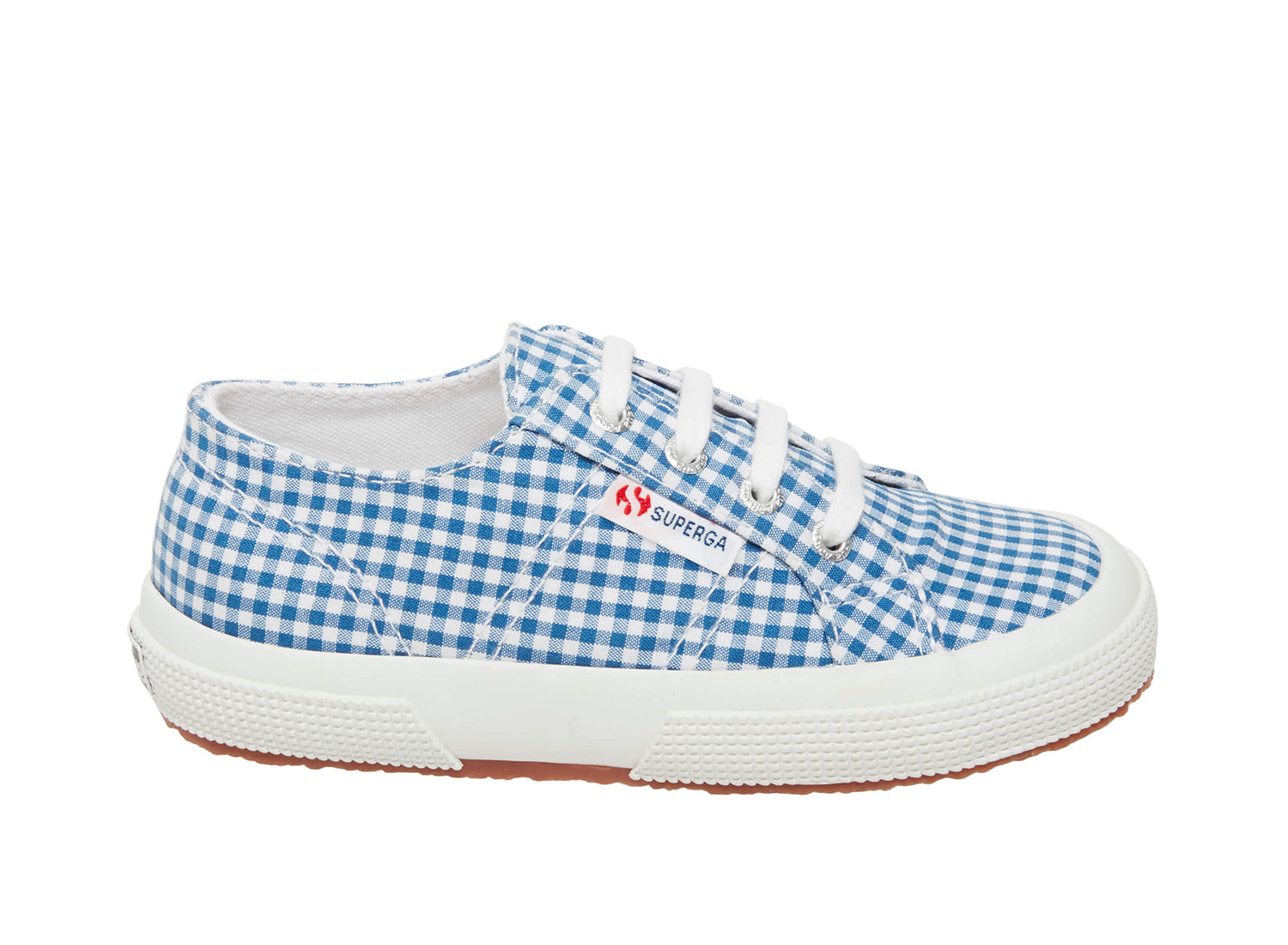 Superga 2750 cotginghamj blue gingham side
