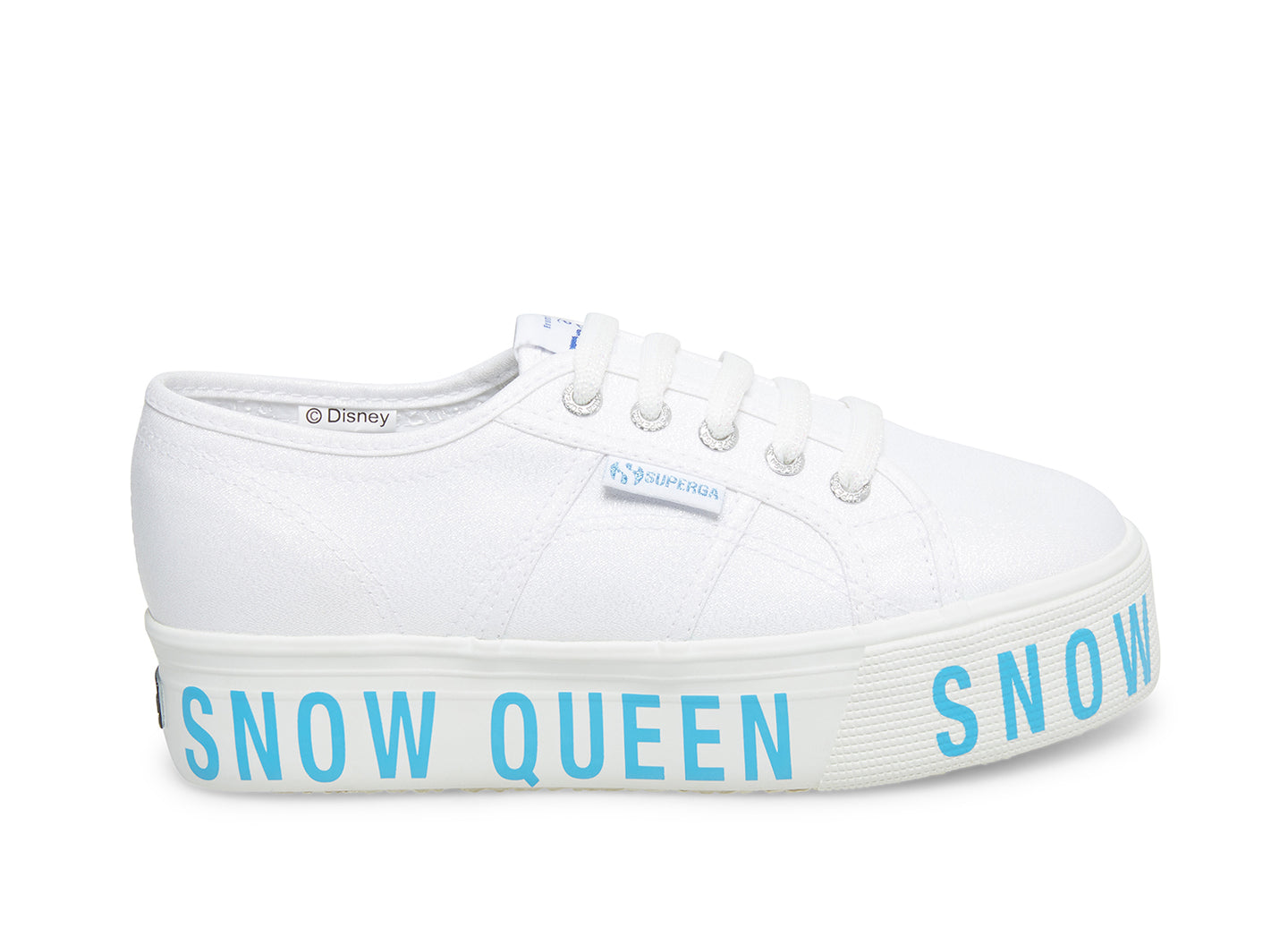 2790-LAMEWPRINTEDFOXING WHITE - Disney Frozen