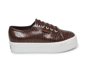 2790 - FAUX CROCODILE TL BROWN MULTI