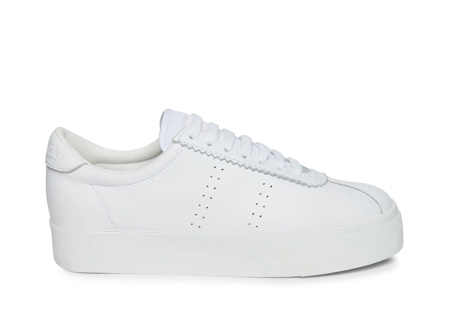 2854 - CLUB 3 FULL COMFORT LEATHER WHITE FABRIC - Women's
