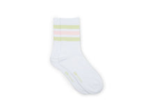 COTTON CREW STRIPED MINT GREEN - Socks
