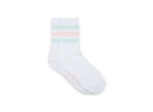 COTTON CREW STRIPED LIGHT PINK - Socks