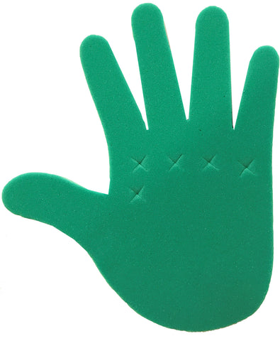 Green Adjustable Foam Hand