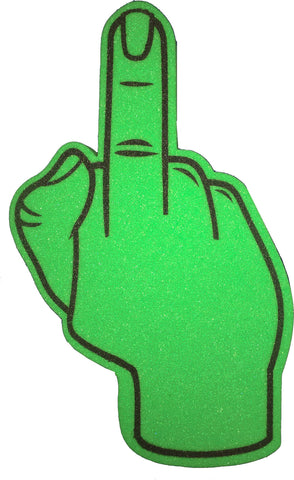Green Bird Foam Finger