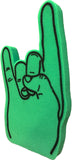 Green Rock Palm Printed Foam Hand