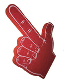 Red Shooter Shape With Palm Print Foam Hand