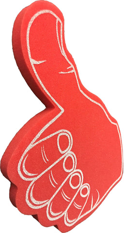 Red Thumbs Up Foam Hand With Palm Print