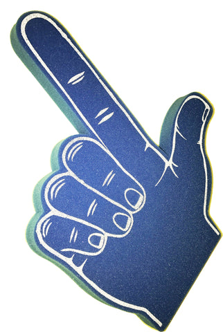 Blue Shooter Shape With Palm Print Foam Hand