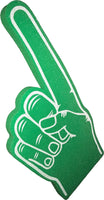 Green Pointy Palm Printed Foam Hand