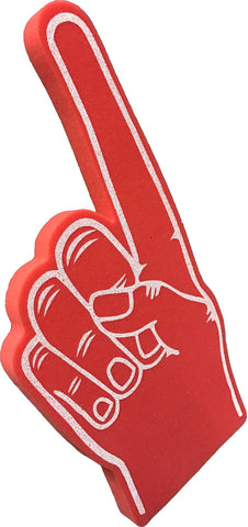 Red Pointy Palm Printed Foam Hand