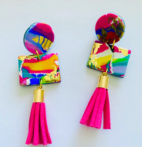 Abstract Tassel Earring