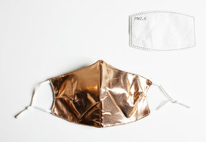 Solid Gold Reusable Face Mask