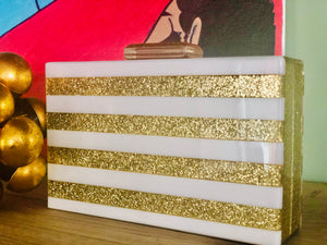 Golden confetti clutch bag - LOW STOCK